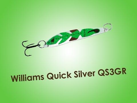 Обзор блесны Williams Quick Silver QS3GR 7г